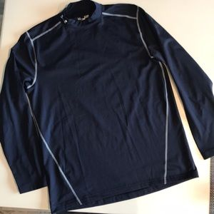 Under Armour Fitted Cold Gear Mock Neck  Shirt